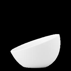 Bowl aslope large, 19 cm - Flow Eco white Lunasol