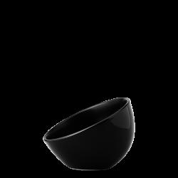 Bowl aslope medium, 14 cm - Flow Eco black Lunasol