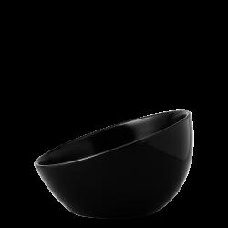 Bowl aslope large, 19 cm - Flow Eco black Lunasol