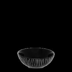 Cereal Bowl 14 cm - BASIC black Lines light grey