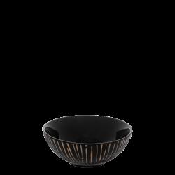 Cereal Bowl 14 cm - BASIC black Lines champagne