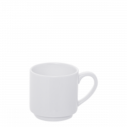 Mocca Cup 100 ml - Lunasol Hotel porcelain uni white