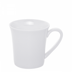 Mug with Handle 300 ml - Lunasol Hotel porcelain uni white