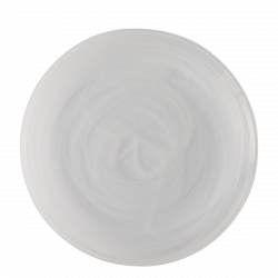 Flat Plate 28 cm - Elements Glass white