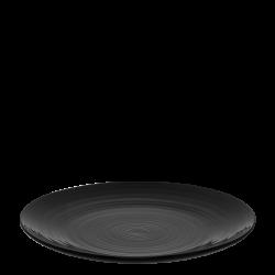 Flat plate Coupe 28 cm Spiral - Gaya RGB black glossy Lunasol