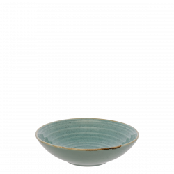 Deep Plate 19.5 cm Spiral - Gaya Sand turquoise Lunasol