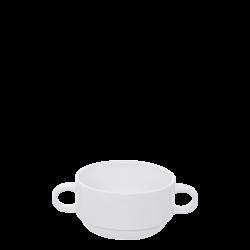 Soup Bowl 280 ml with two handles - Lunasol Hotelporzellan uni white