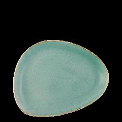 Plate oval 25.5 cm triangle - Gaya Sand turquoise Lunasol
