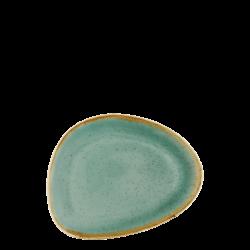 Plate oval 20.5 cm triangle - Gaya Sand turquoise Lunasol
