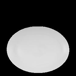 Plate oval 30 cm - Lunasol Hotelporzellan uni white