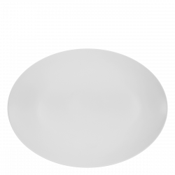 Plate oval 42 cm - Lunasol Hotelporzellan uni white
