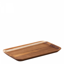 Tray rectangular Acacia 30 x 17.5 x 2 cm - FLOW Wooden