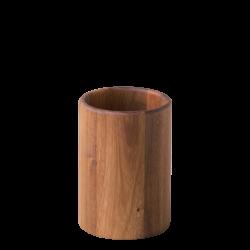 Utensil Holder Acacia 17.8 cm Ø 12.7 cm - FLOW Wooden