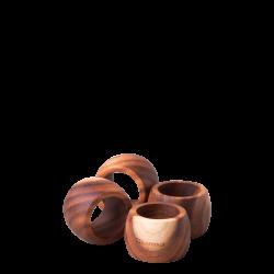 Napkin Ring Acacia 4pcs. Ø 5.7 cm - FLOW Wooden