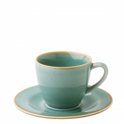 Coffee Cup 250ml - Gaya Sand turquoise Lunasol