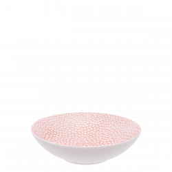 Deep Plate Coupe 19.5 cm - FLOW Raised Structur skin / white