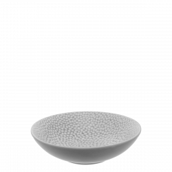 Deep Plate Coupe 19.5 cm - FLOW Raised Structur light grey / white