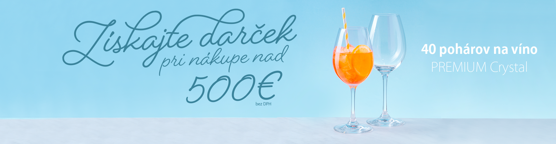 Získajte darček pri nákupe nad 500 €
